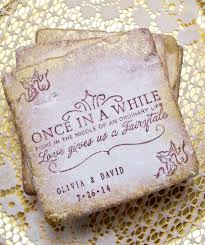 Wedding Coasters Fairy Tale Personalized Gift Once In A While Right In The Middle Of