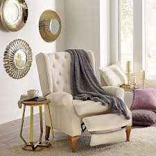 queen anne style tufted wingback recliner chairs recliners brylanehome