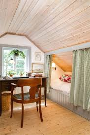 ceiling decor ideas best sloped bedroom on attic recessed lighting pleasant  curtained off bed under . ceiling decor ideas ...