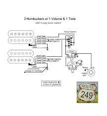 wiring two humbuckers with one volume and one tone 2 Humbucker 1 Volume 1 Tone Wiring 2 Humbucker 1 Volume 1 Tone Wiring #34 2 humbucker 1 volume 1 tone wiring diagram