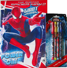 How to color spiderman coloring book spiderman coloring pages for kids bun sophat. Spiderman Coloring Book And 4 Piece Pop Up Pencil Set Amazon In Office Products