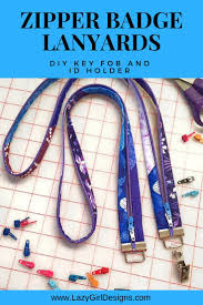 Unique Lanyard Designs Zip Up A Cool Fobio Badge Lanyard Sew On Badges Lazy Girl