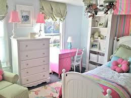 Bedroom:Uncategorized Shabby Chic Girls Bedroom Decorating Idea With Cute  Pink Bed Frame Covered With