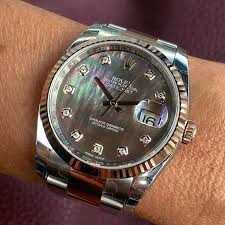 17 best ideas about men s rolex mens watches rolex datejust 36 ref 116231 dial black mother of pearl ift