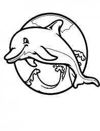 Cool Dolphin Coloring Pages For Kids At Getdrawings Com Free