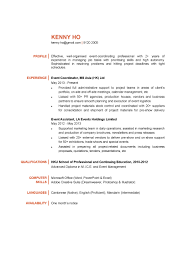 15836 1 Resume Templates Event Impressive Planner Objective Examples