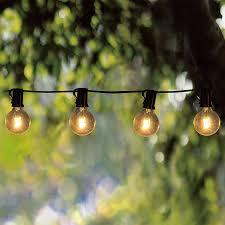 Globe Umbrella Lights Amazon Com Goothy Globe String Lights With G40 Bulbs 25ft