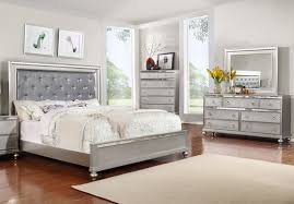 Marvelous Silver Finish Bedroom Group By Lifestyle