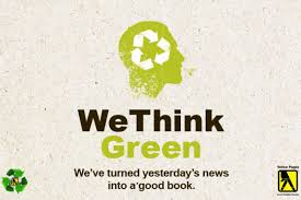 we think green and promote recycling