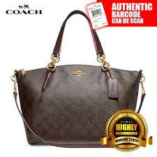 NWT  Coach F28989 Small Kelsey Satchel In Signature - IMFDC (Brown    Oxblood