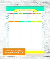 Free Homework Planner Student Homework Planner Printable Schedule And Weekly Sheet Free