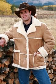 mens sheepskin riding jacket