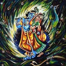 original yoga painting omwoman yoga meditate. Krishna Painting - Radhe By Harsh Malik Original Yoga Omwoman Meditate