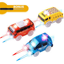 Led Light Toy Car Track Cars Replacement Only Light Up Toy Cars With 5 Flashing Led Lights Toys Racing Car Track Accessories Compatible With Most Tracks For Kids Boys