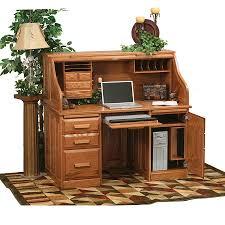 rustic roll top computer desk