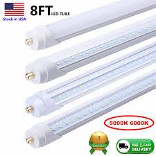 Fluorescent Tube Light 8 Ft Led Tubes Single Pin Fa8 Led Bulb 8feet 8ft Led Tube Lamp Replace Fluorescent Tube Light V Shaped Tube 5000k 6000k Fluorescent Light Tube