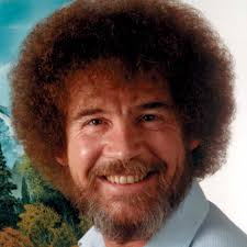 bob ross host of the popular pbs television show the joy of painting