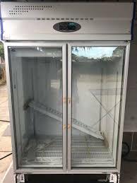 2 doors glass display fridge 99 9 new never used