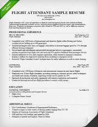 Sample Resume Flight Attendant