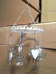 hanging candle chandelier uk wrought iron real pillar chand