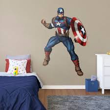 captain america avengers assemble life size officially licensed marvel removable wall decal fathead