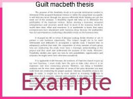 guilt macbeth thesis research paper academic writing service guilt macbeth thesis guilt and ambition in shakespeare s macbeth it is clear that macbeth feels