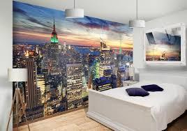 new york skyline wall mural bedroom home decor ideas pinterest