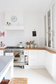 fabulous scandinavian country kitchen. The First Room In House For Renovating Was Kitchen, Undergoing A Fresh Color Scheme Of Crisp White And Blue, With Hints Red, Pink Mint Green Fabulous Scandinavian Country Kitchen