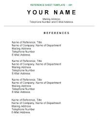 Listing References On Resume Awesome Resume References Template Listing References Format A Reference