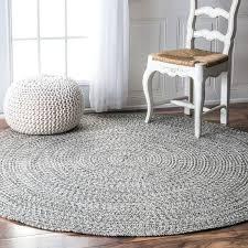 6 round area rug amp rowan handmade grey braided area rug round 6 foot square area