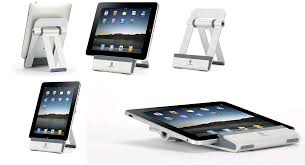 the griffin stand allows you to lower the ipad so you can type on it without