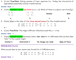 3 4 pts true false solving systems of linear equations