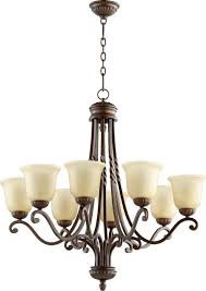 eight light oiled bronze amber scavo glass up chandelier mtkm black whale lighting