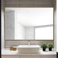 Ivy Bronx Eline Rectangular Thin Modern And Contemporary Bathroom Mirror Finis Large Bathroom Mirrors Rectangular Bathroom Mirror Contemporary Bathroom Mirrors