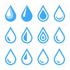 Water Drops Template Water Drop Emblem Logo Template Icon Set Vector Royalty Free
