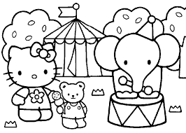 Print free hello kitty coloring sheets and her friends for coloring. Hello Kitty Coloring Pages In Carnival Coloring4free Coloring4free Com