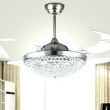 chandelier ceiling fan crystal combo