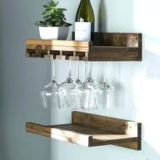 wall mount glass shelves wine shelf rustic mounted rack r wall wine storage rack glass