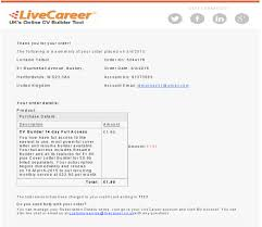 Livecareer Co Uk Price Variations Sample Sales Page Sample Email