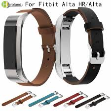 luxury genuine leather replacement strap for fitbit alta alta hr tracker wrist bracelet watchstrap black watch band high quality rubber watch bands nylon