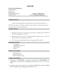 Entry Level Civil Engineering Resume Objective For Electrical