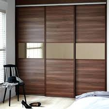 sliding bedroom doors can be applied to wardrobe made of cherry wood will make a good