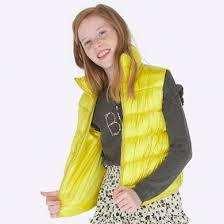 Стеганый <b>жилет для девочки</b> Желтый - <b>Майорал</b>
