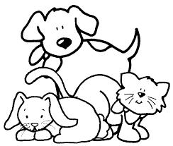 Disegni Da Colorare Gattini E Cagnolini Fredrotgans
