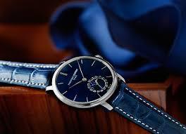 feeling blue 25 watches blue dials and blue straps frédérique constant slimline moonphase manufacture