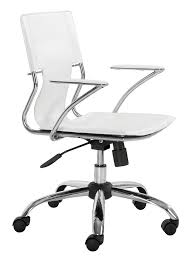 white modern office chair white rolling. White Modern Office Chair Rolling O