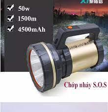 Đèn pin SIÊU SÁNG 50w kiêm sạc dự phòng TGX-991, đèn pin siêu sáng chống  nước, đèn pin