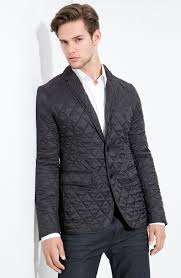 Lyst - Burberry Quilted Blazer in Black for Men & Gallery Adamdwight.com