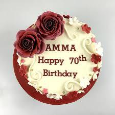 70th Birthday Cake Idea