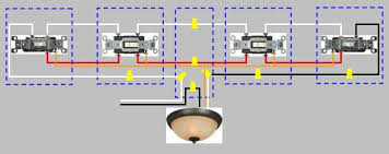 how to wire a way switch 4 way switch wiring diagram power enters at light fixture and proceeds to 3